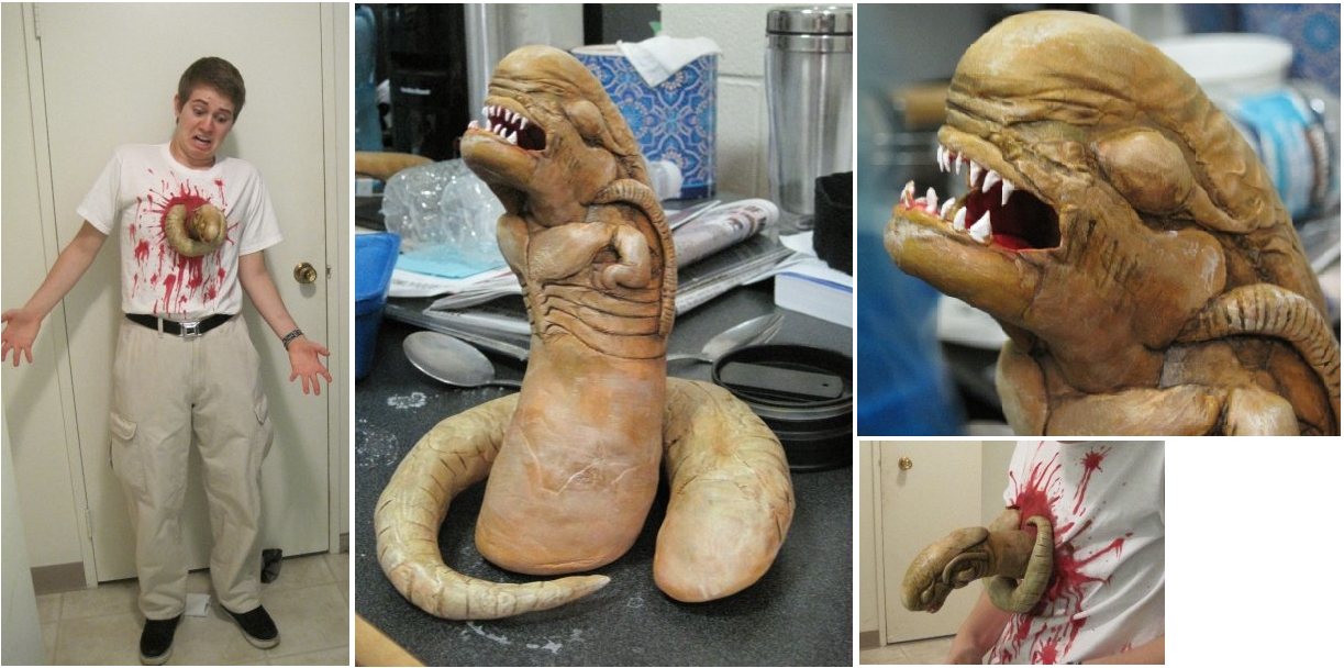 Aliens and Predators, Chestburster Costume by ~Kijarat on ...