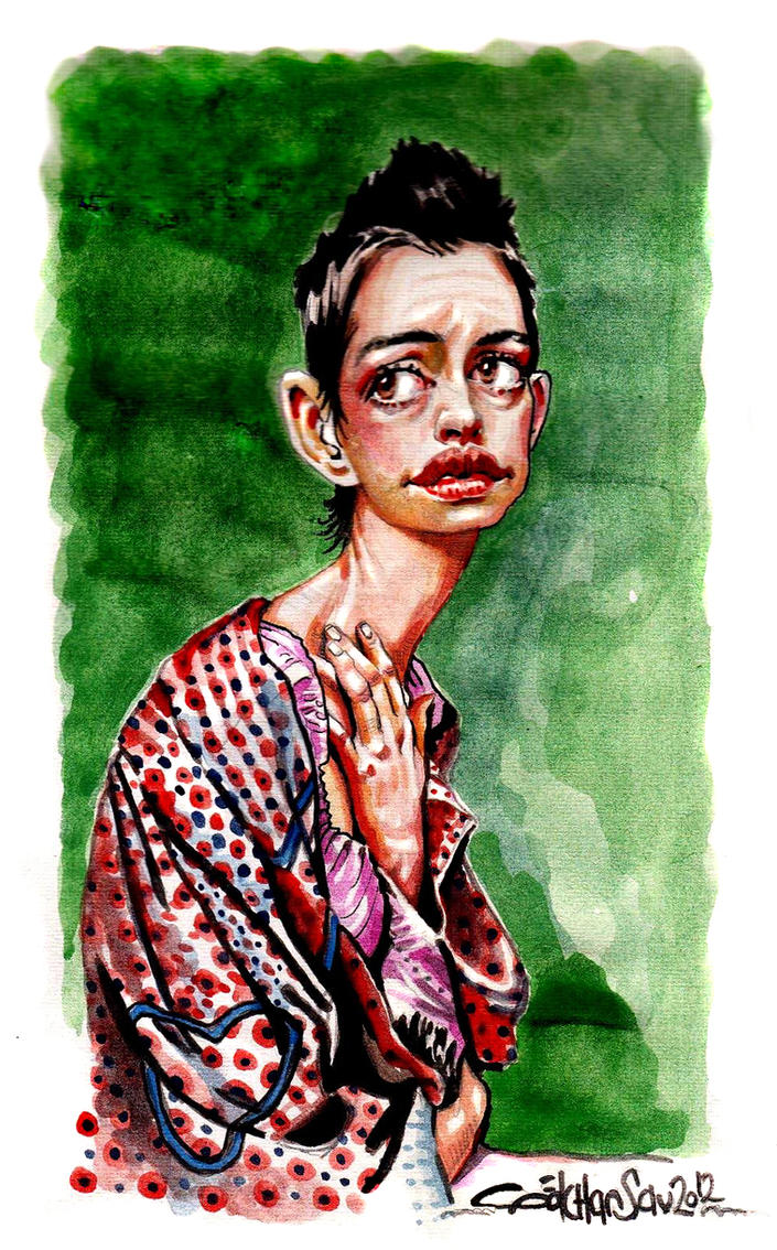 anne hathaway by gokhansav