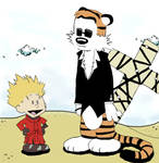 Calvin the Stampede and Hobbes