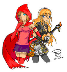 Alice and Red coloured by Charismah