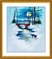 Christmas Eve Full Moon By Yesterdays Paper-dbl8ed by SirIvyPink