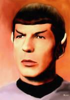 Spock Portrait 2 by karracaz