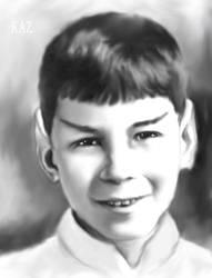 Charcoal Spock by karracaz