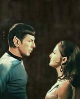 Spock and Charvenak by karracaz