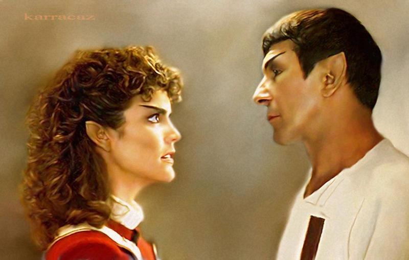 Saavik and Spock by karracaz