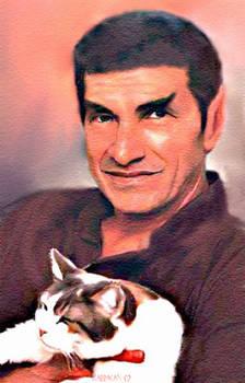 Sarek and cat