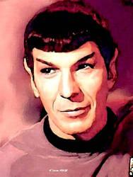 Spock  smile by karracaz