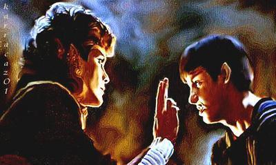 Spock and Saavik by karracaz
