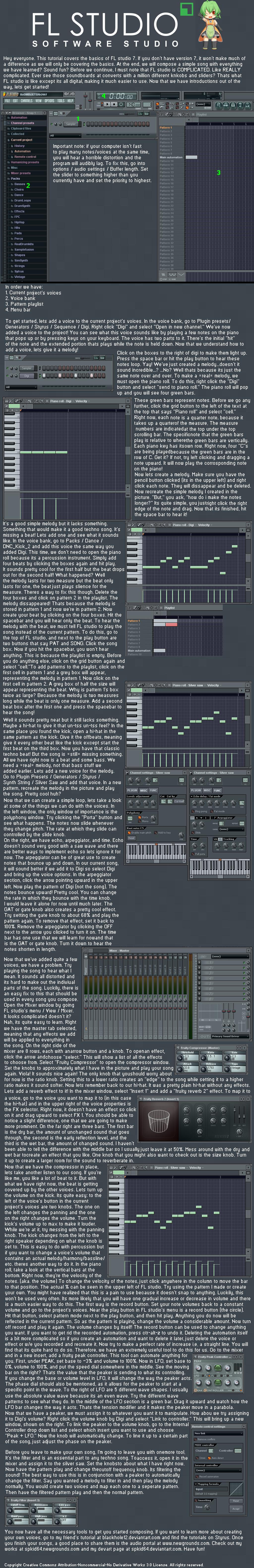 FL studio basic tutorial by NekoChrono