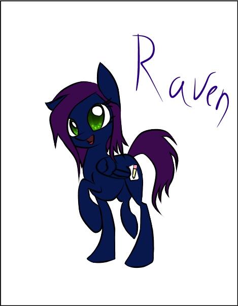 Mlp Oc Raven by V-Shad