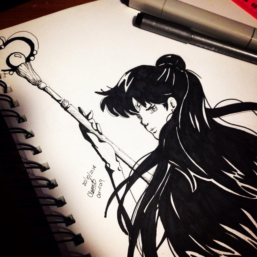 Sailor Pluto Inks by ar-ca9