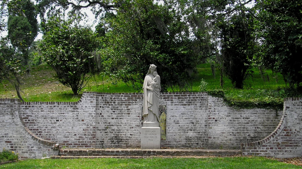 Mepkin Abbey statue by f700es