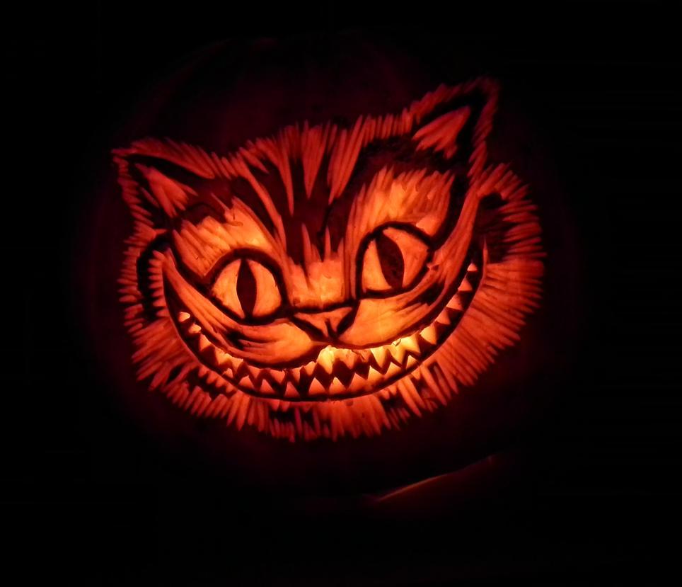 Chesire Cat Pumpkin by Noweia on DeviantArt