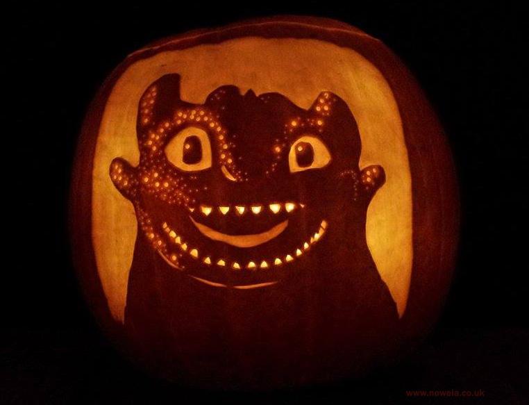 Happy toothless pumpkin by noweia on deviantart
