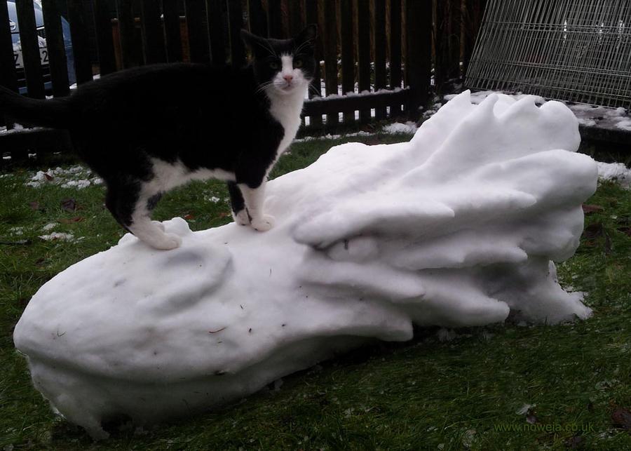 Snow Smaug by Noweia