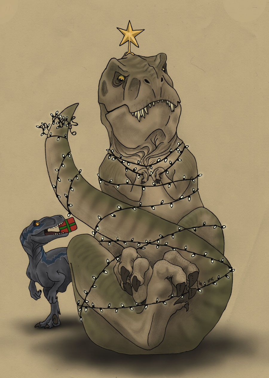 Rexy And Blue S Christmas By Noweia On Deviantart
