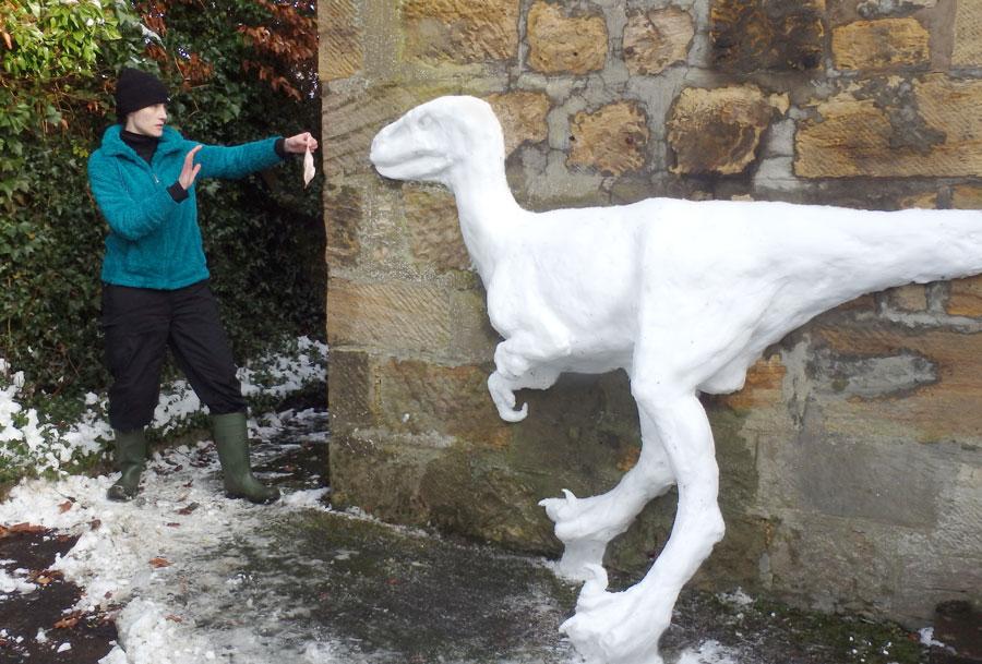 Snow Dinos Like Chicken Too by Noweia