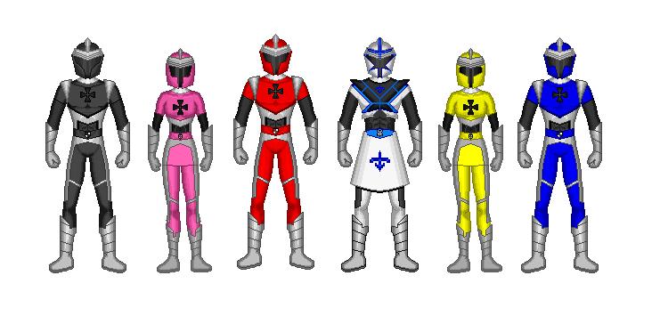 power rangers knights