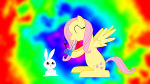 Hippie Fluttershy Redeux by circuitsense