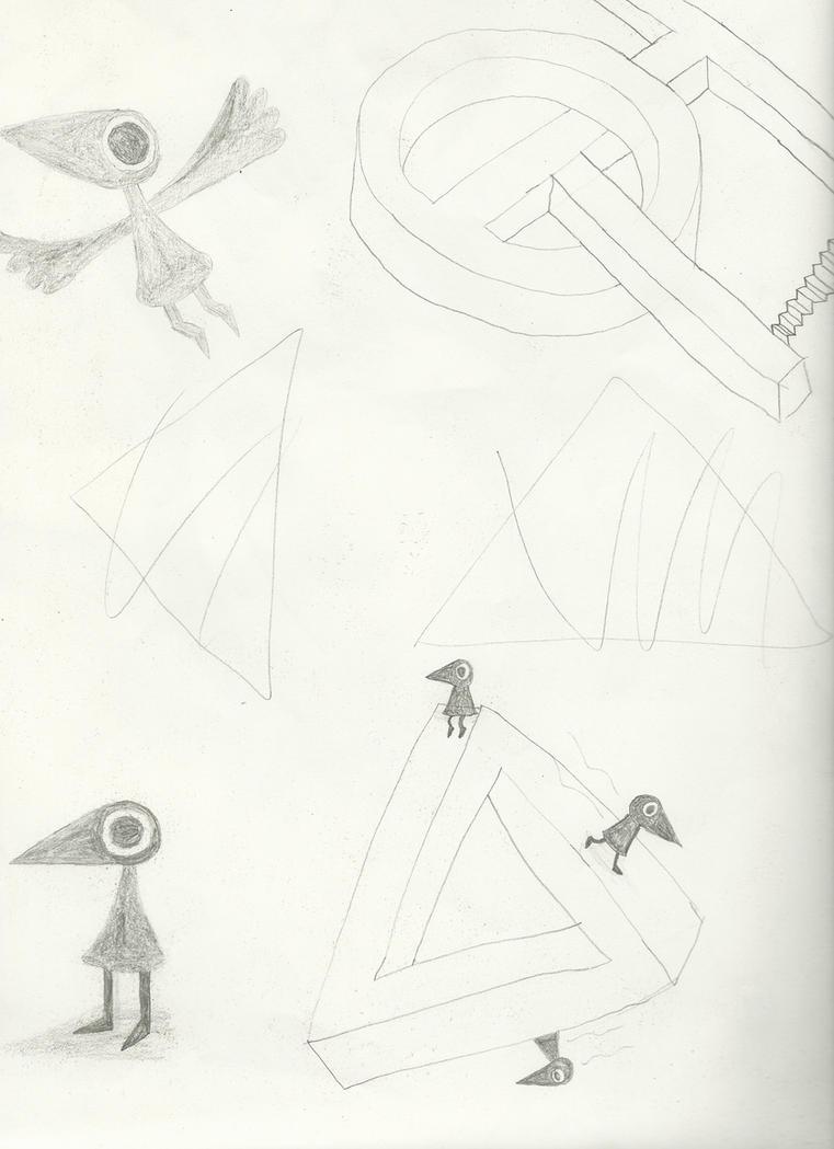 Monument Valley Sketches by weirdnwild91