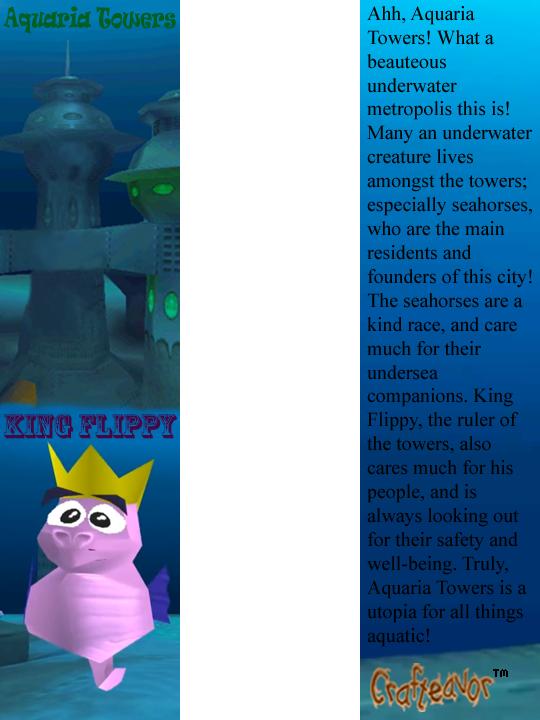Aquaria Towers Bookmark by weirdnwild91