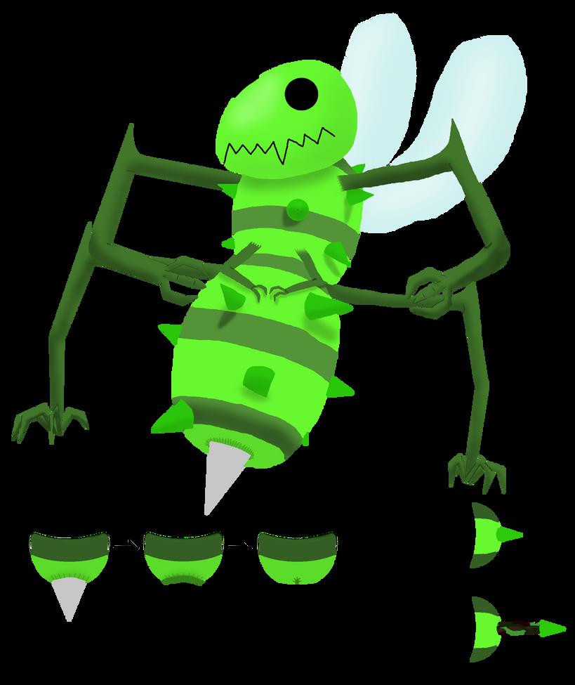 Bouncy Bee by weirdnwild91