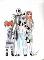 Skellington Family by Gravegirl94