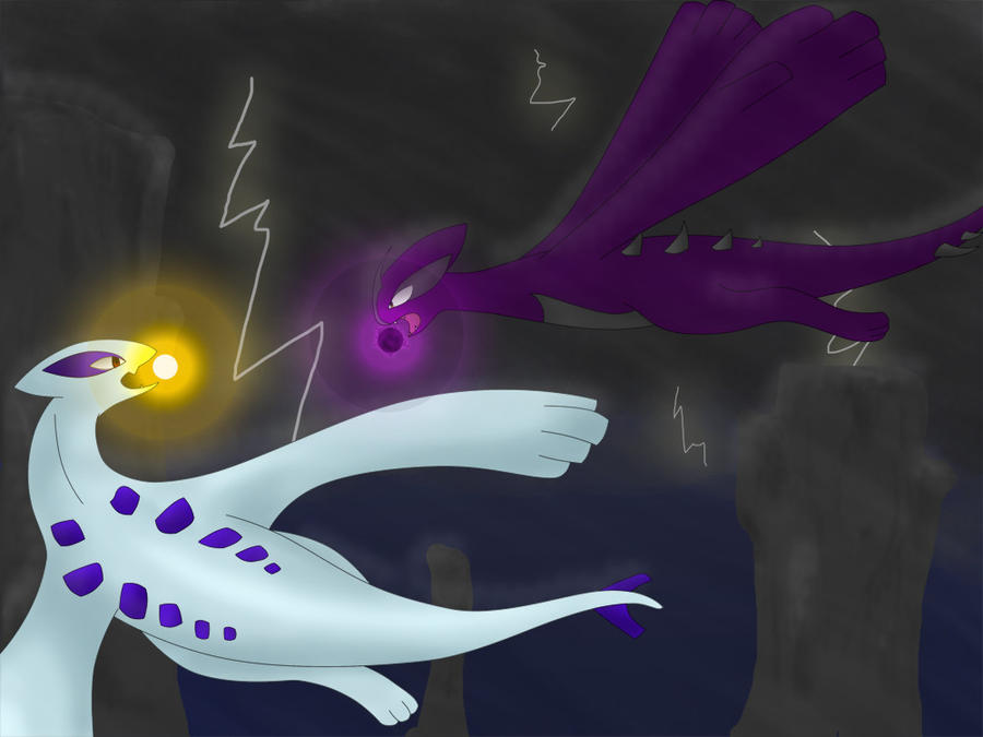 Lugia Vs Shadow Lugia The Movie Lugia vs Dark Lugia by...