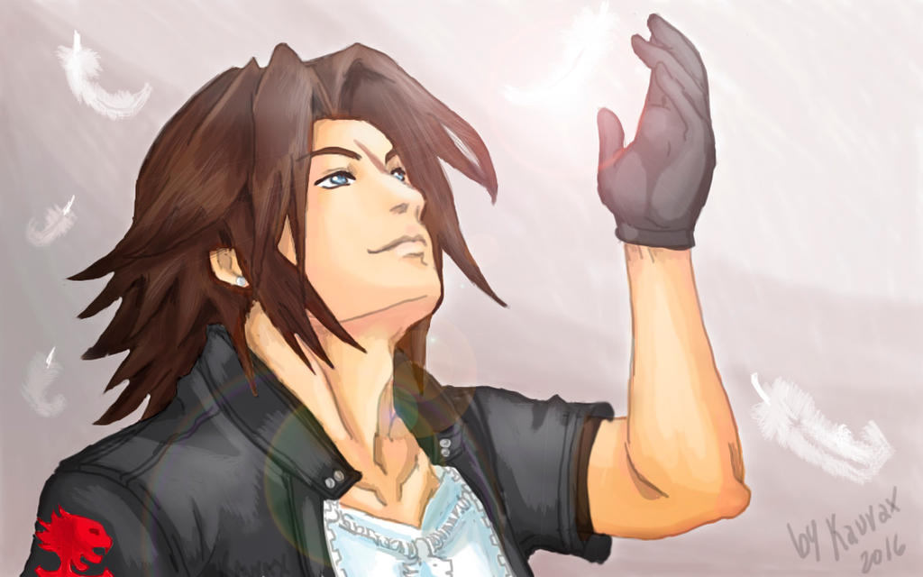 Leon Squall kh by kaurax