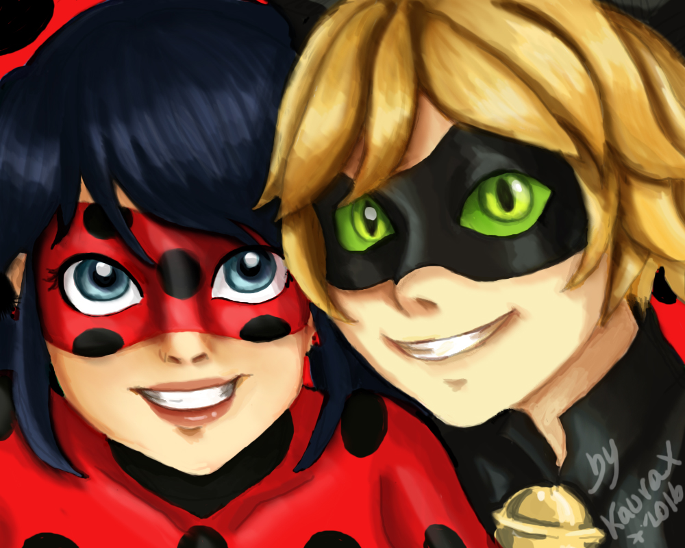 Ladybugxchat noir by kaurax