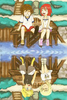Redraw: my reflection on the water kh by kaurax