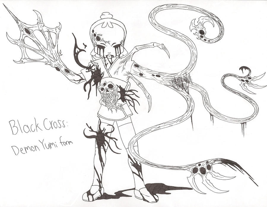 Black Cross Demon Yumi form by demongirl99 on DeviantArt