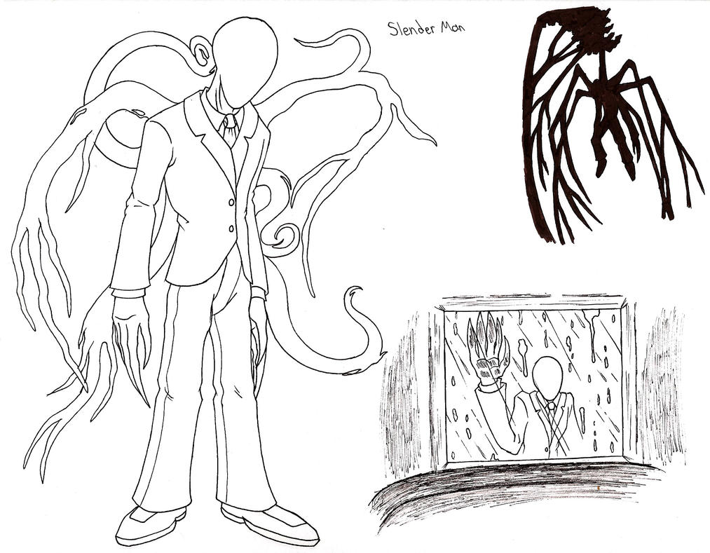 Hell demons coloring pages for Slender man coloring pages