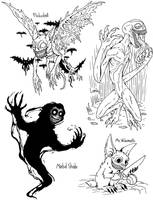 Creepypasta Critters by demongirl99