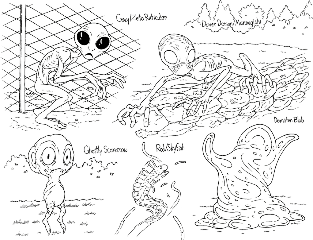 Alien Visitors by demongirl99