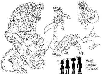 Demon Wolf Practice by demongirl99