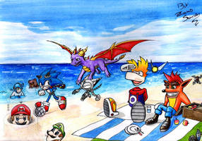PLATFORM HEROES -competition- PIC NIC AT THE BEACH by ZaxsSouven