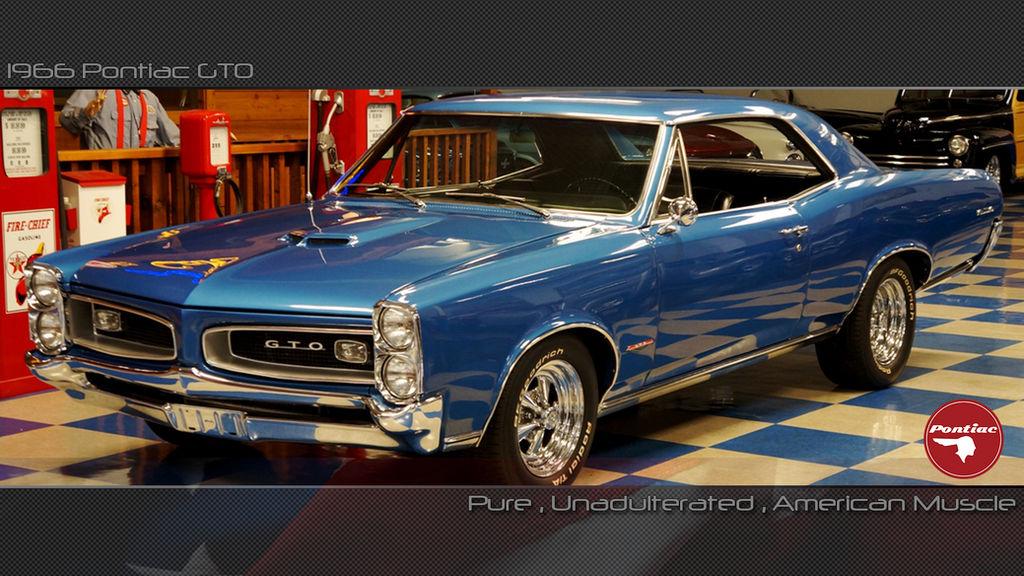 1966 Pontiac Gto Desktop Wallpaper By Darkknight2264 On