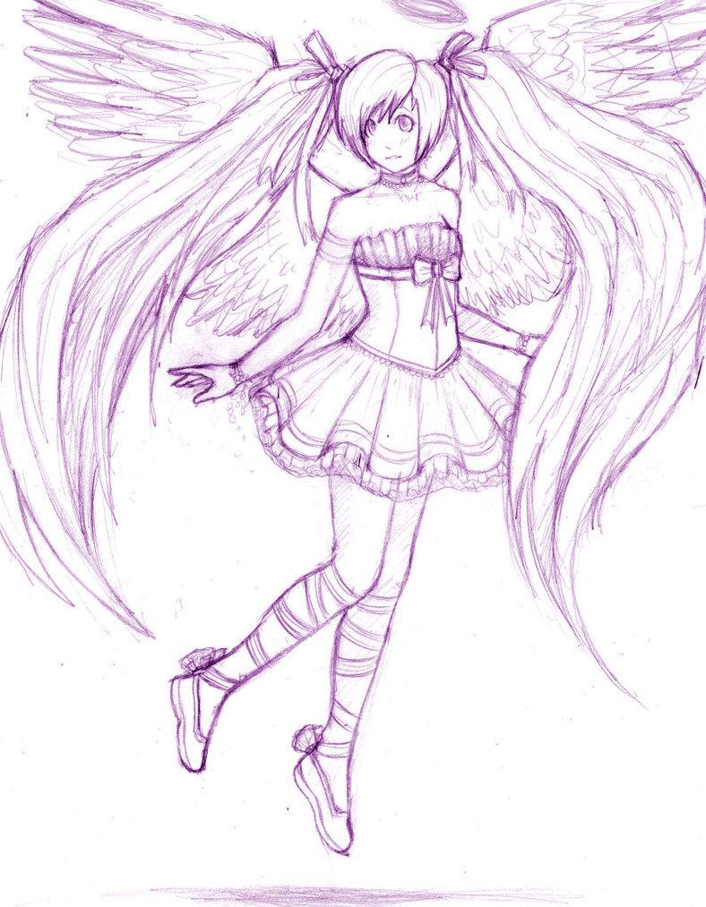 Anime Angel Girl By Srigby2000