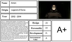 Character Review - Amon (Legend of Korra)