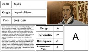 Character Review - Tarrlok (Legend of Korra)