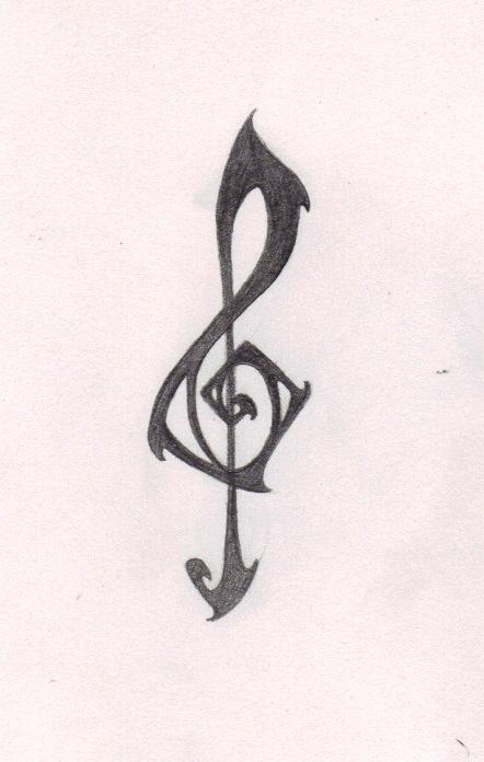 Pin pin noten tattoos musiknoten picture to pinterest on for Tattoo noten