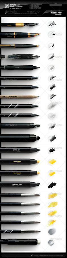 Photoshop Professional Brush Pack vol.4 - Classic