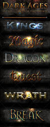 15 Photoshop Text Styles - Dark Ages by xgfxws