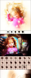 Light Mask and Fantasy Lighting Effect Brushes by xgfxws