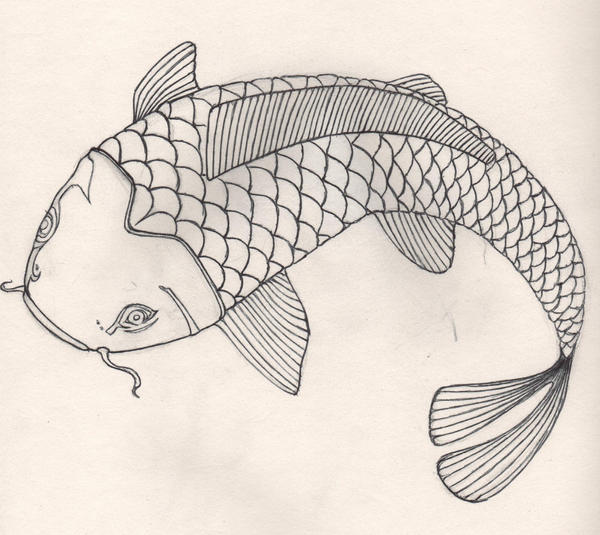 Koi fish outline by yeshuatheanswer on deviantart for Koi fish outline