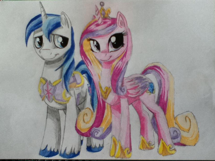 Princess Cadence and Shining Armour by glaceonlass on ...
