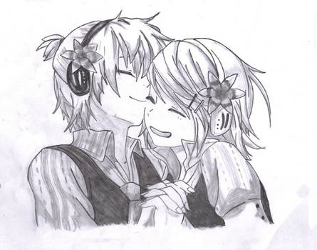 rinn and len, cute moments