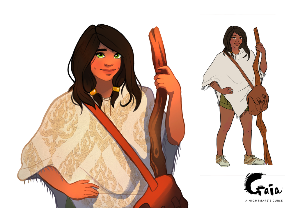 Character design - Gaia by Laseir