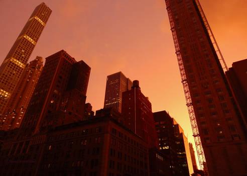 Flaming city